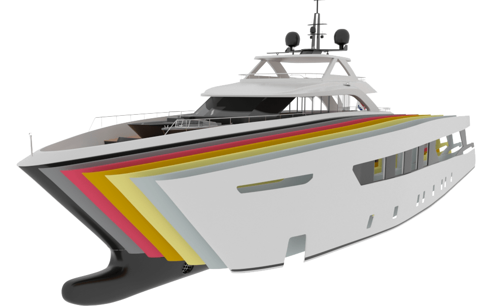 yacht paint phases TOPCOAT 3- Yacht Paint
